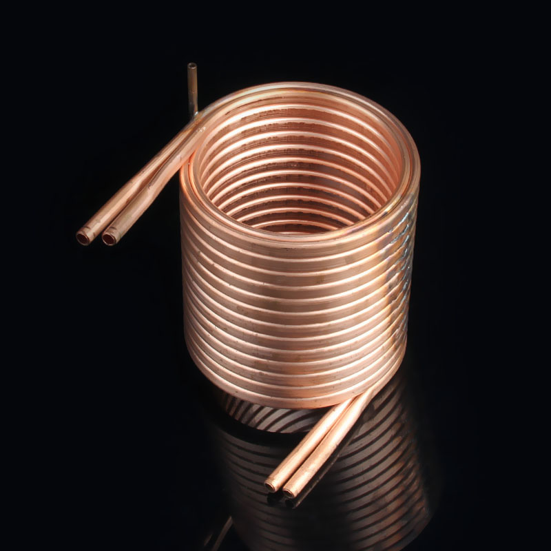 how to make a copper coil heat exchanger